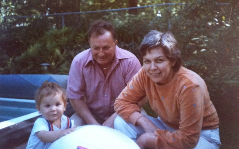 Baby Corry Frydlewicz w/ two of his grandparents