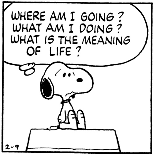 Snoopy having an existential crisis