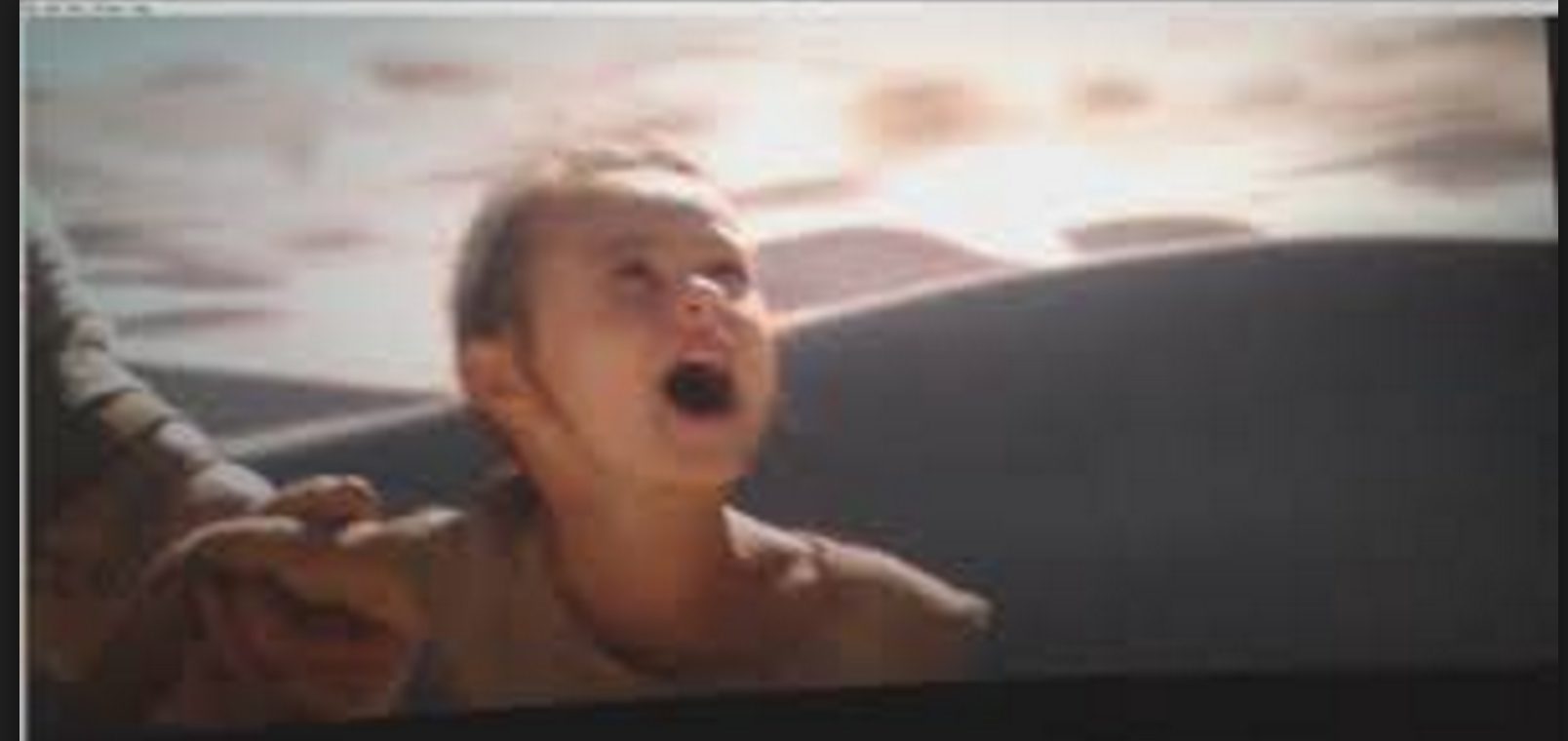 Young Rey gets dropped off on Jakku