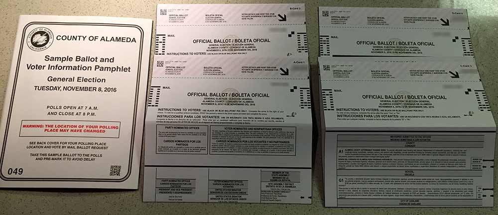 (Thumbnail Image for My Ballot for November 8, 2016 – Oakland, California)