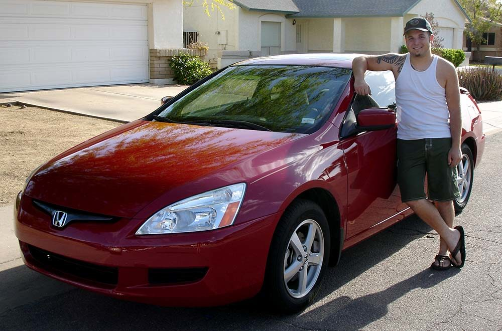 Me with my car 2007, shortly before my weight loss journey began