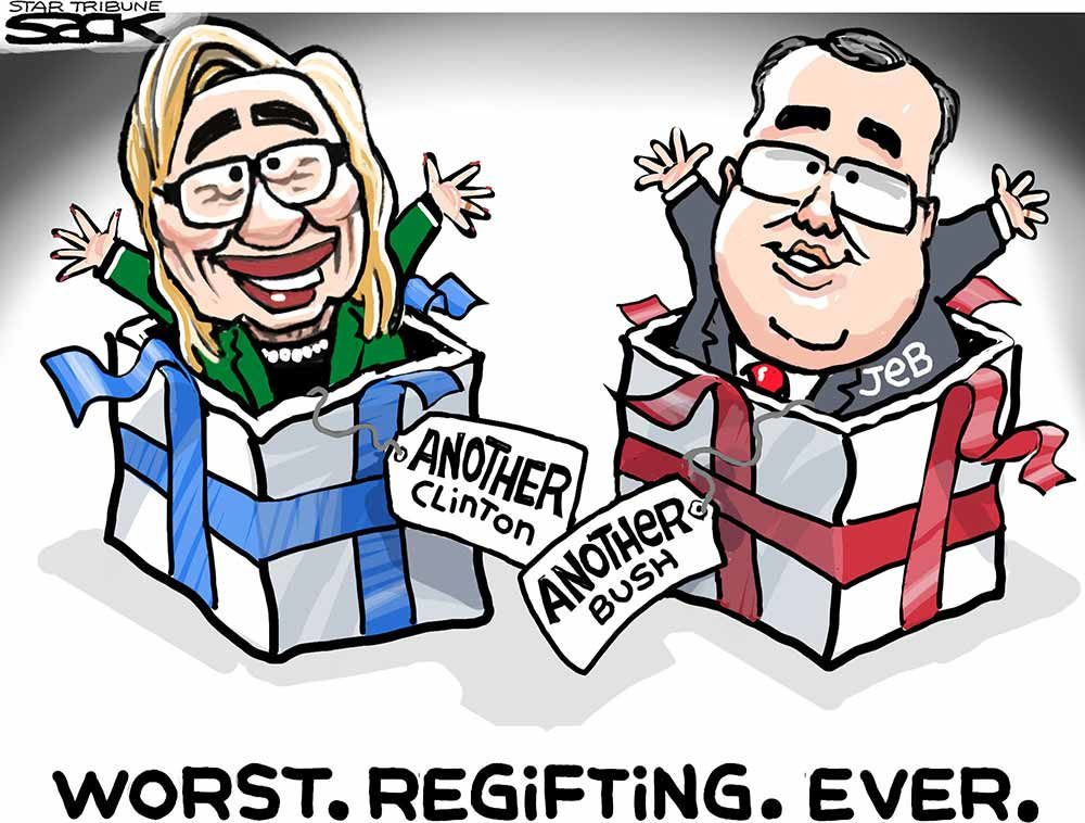 [comic] Clinton and Bush regifted in 2016