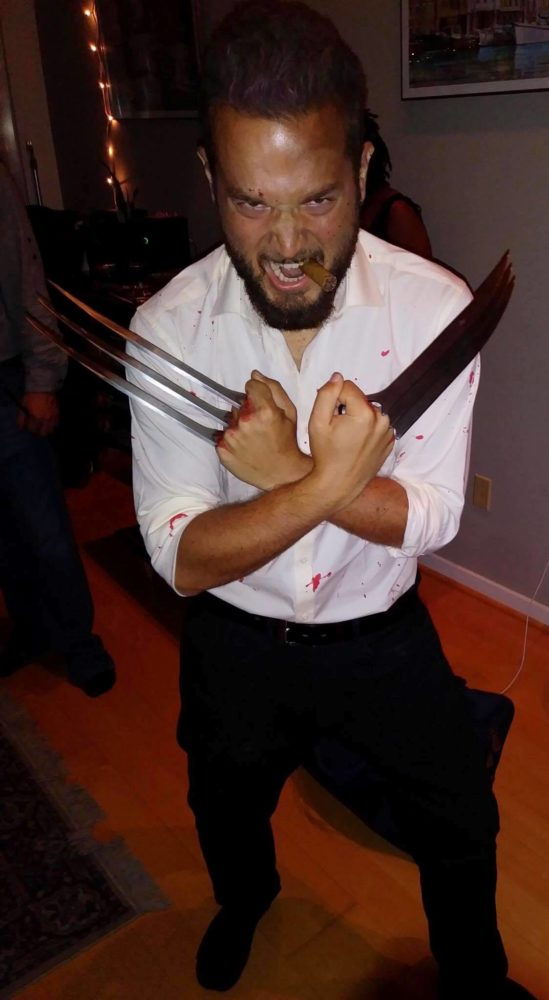 Me wearing my Logan costume for Halloween 2017